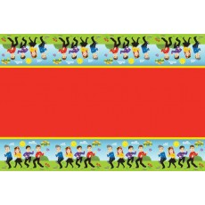 The Wiggles Plastic Table Cover 1.8m x 1.3m