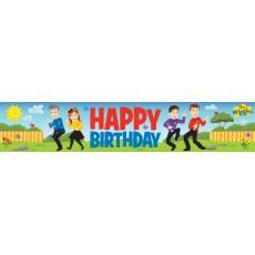The Wiggles Plastic Happy Birthday Banner 1.5m x 30cm