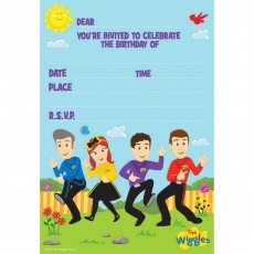 The Wiggles Invitations Pack of 8