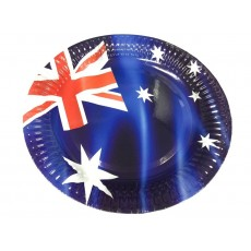 Round Australia Day Dinner Plates 23cm Pack of 8