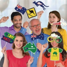 Australia Day Photo Props Pack of 13