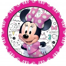 Round Minnie Mouse Happy Helpers Pinatas