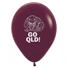 Teardrop Burgundy State of Origin QLD Cane Toad Go QLD! Latex Balloons 30cm Pack of 25