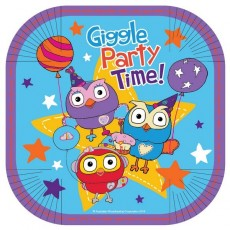 Square Giggle & Hoot Lunch Plates 17cm Pack of 8