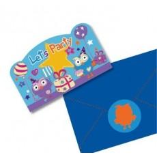 Giggle & Hoot Postcard Invitations Pack of 8