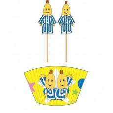 Bananas in Pyjamas Picks & Cupcake Cases Pack of 48
