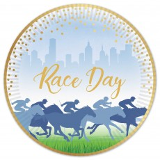 Horse Racing Race Day Dinner Plates 23cm Pack of 8