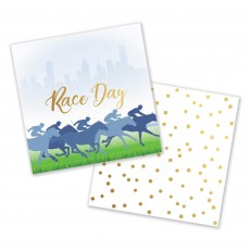 Horse Racing Race Day Beverage Napkins Pack of 16