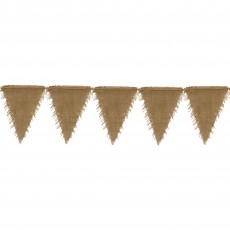 Kraft Burlap Flag Bunting Hanging Decoration