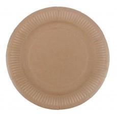 Kraft Paper Dinner Plates 23cm Pack of 12