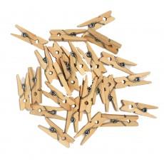 Kraft Party Supplies - Mini Wooden Pegs