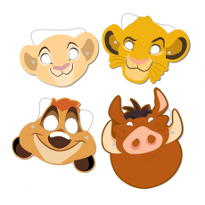 Lion King Party Masks Pack of 8