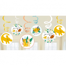 Lion King Swirl Hanging Decorations Pack of 12