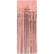 Rose Gold Metallic Curtain Door Decoration 91.4cm x 2.43m