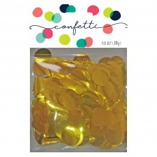 Gold Metallic Foil Circles Confetti