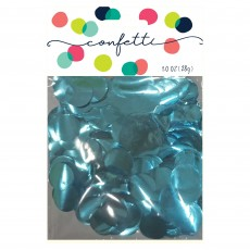 Blue Light Metallic Foil Circles Confetti
