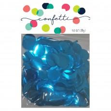 Blue Party Decorations - Confetti Metallic Foil Circles Caribbean Blue