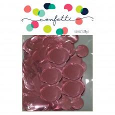 Pink Light Metallic Foil Circles Confetti