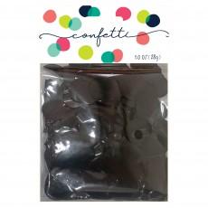 Black Party Decorations - Confetti Metallic Foil Circles Black