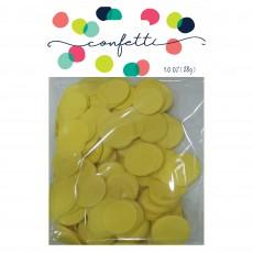 Yellow Tissue Paper Circles Confetti