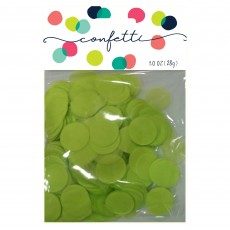 Green Party Decorations - Confetti Tissue Paper Circles Lime Green
