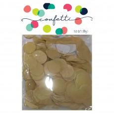 Gold Party Decorations - Confetti Premium Tissue Paper Circles Gold