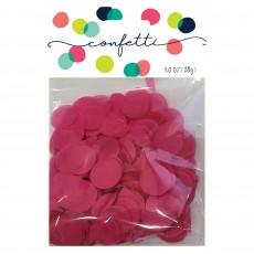 Pink Hot Tissue Paper Circles Confetti