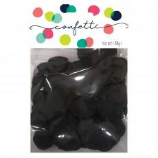 Black Party Decorations - Confetti Tissue Paper Circles Black