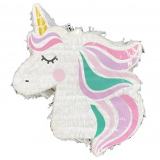 Unicorn Fantasy Party Supplies - Pinata 2D Unicorn Head