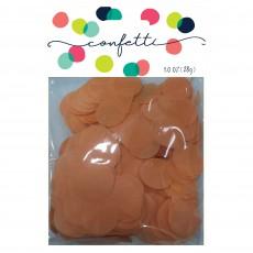 Orange Tissue Paper Circles Confetti