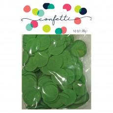 Green Dark Tissue Paper Circles Confetti