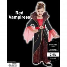 Halloween Red Vampiress Child Costume