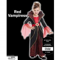 Halloween Red Vampire Child Costume
