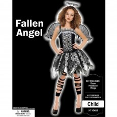 Halloween Party Supplies - Child Costume - Fallen Angel 5-7 Years