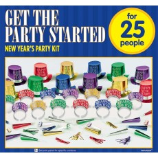 New Year Colourful Get the Party Started Party Boxe