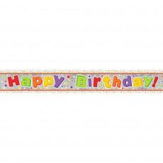 Happy Birthday Multi Holographic Banner