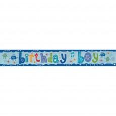 Happy Birthday Holographic Birthday Boy Banner 2.7m