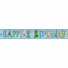 Boy's 1st Birthday Banner