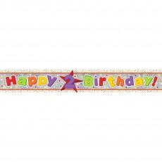 Happy Birthday Multi Holographic Happy 2nd Birthday Banner 2.7m
