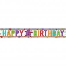 Happy Birthday Multi Holographic Happy 6th Birthday Banner 2.7m