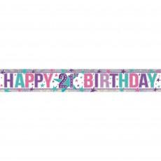 21st Birthday Girl Design Banner