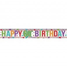 60th Birthday Holographic Banner