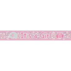 Baby Shower - General Holographic It's a Girl Banner 2.7m