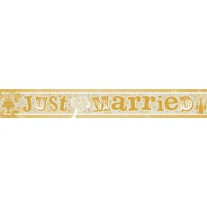 Wedding Holographic Just Married Banner 2.7m