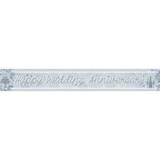Anniversary Party Decorations - Banner Happy Wedding Anniversary