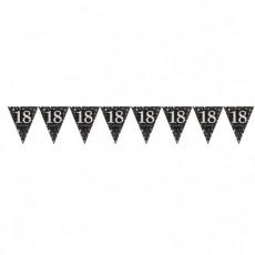 18th Birthday Sparkling Celebration Prismatic Pennant Banner 4m x 20cm