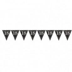 18th Birthday Sparkling Celebration Prismatic Pennant Banner