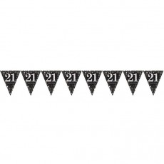 21st Birthday Sparkling Celebration Prismatic Pennant Banner