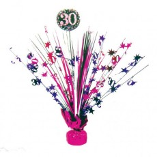 30th Birthday Pink Celebration Spray Centrepiece