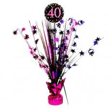 40th Birthday Pink Celebration Spray Centrepiece